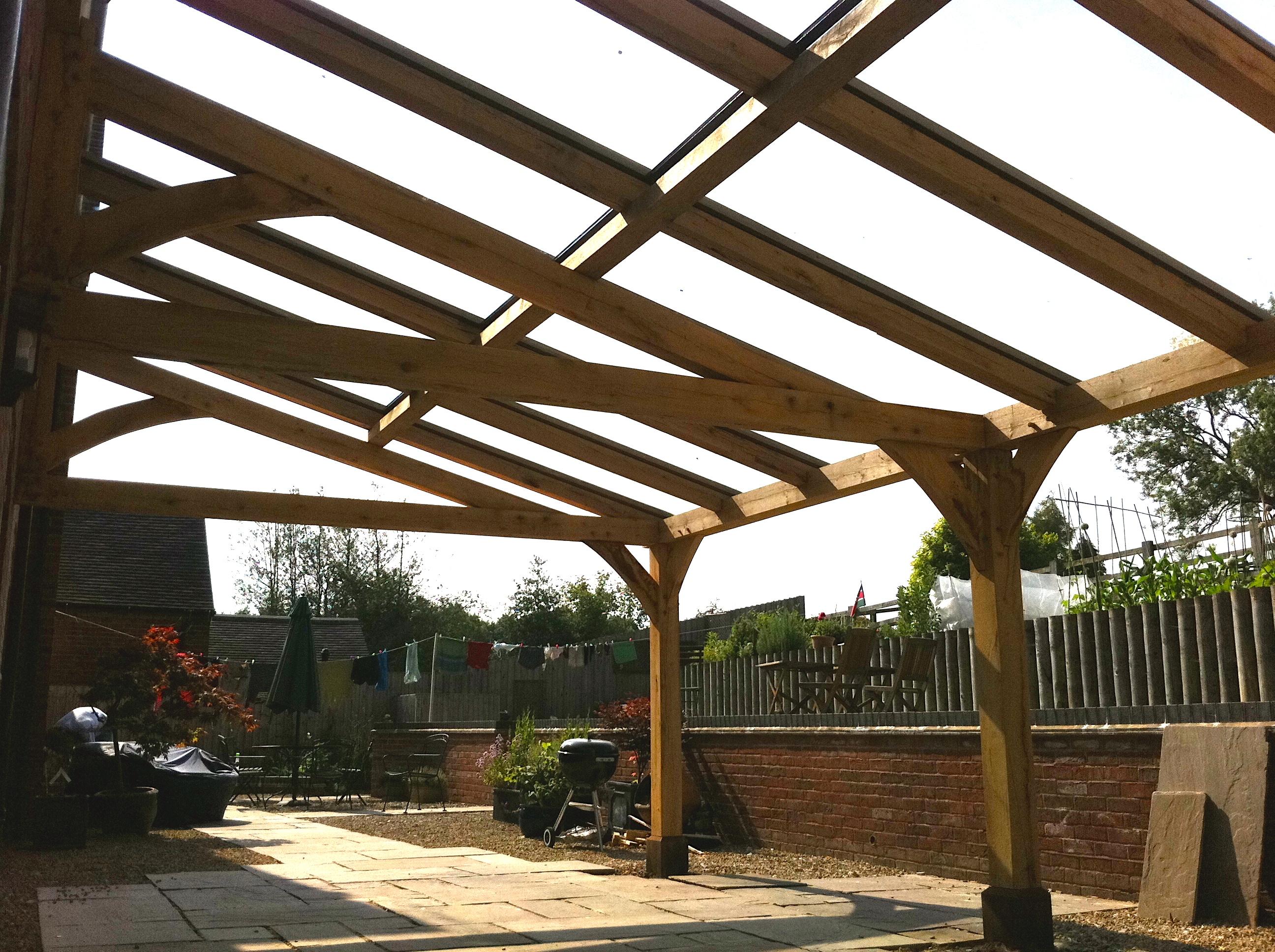 6 5m Long Oak Frame Veranda