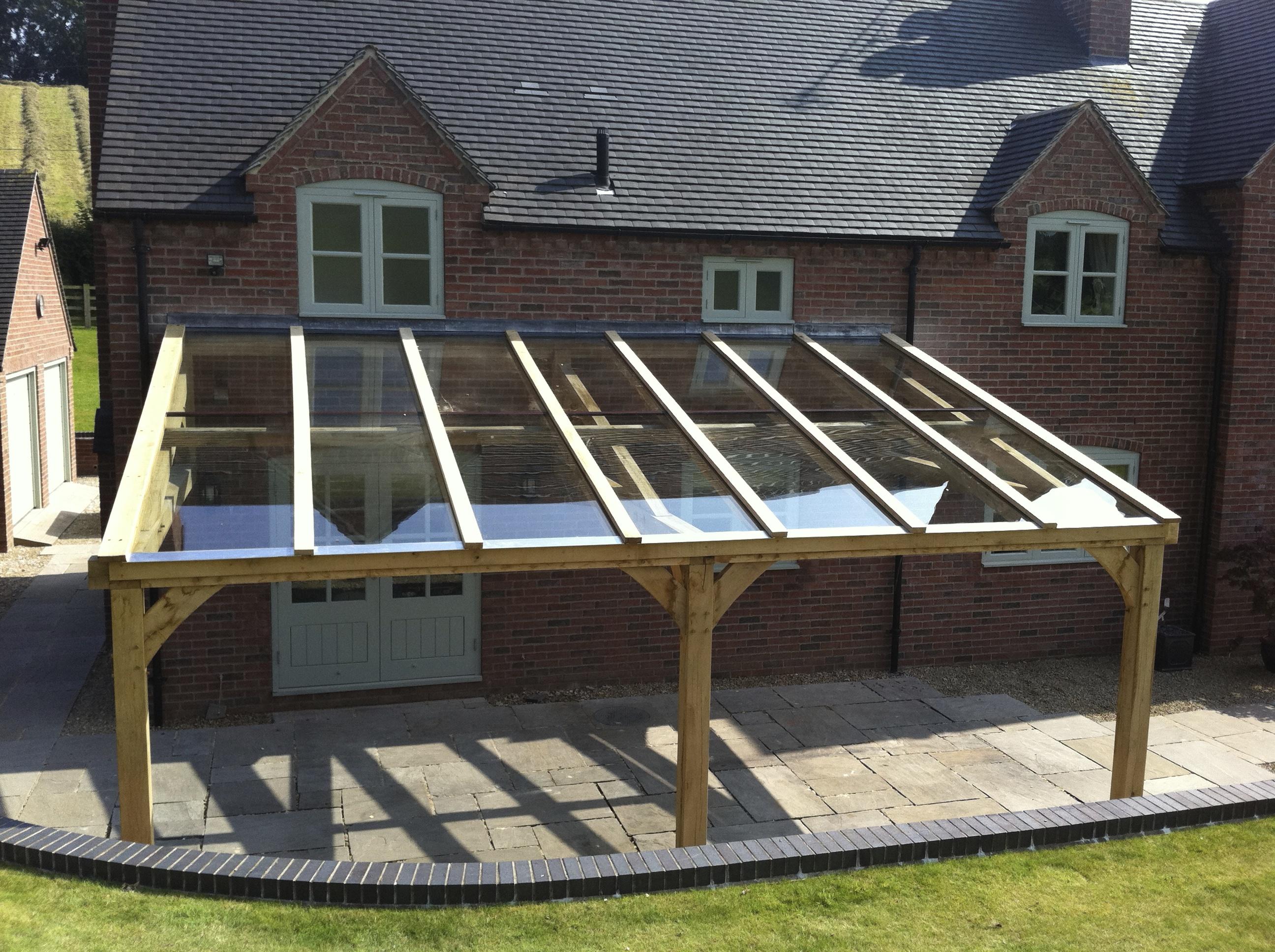 long oak frame veranda. Black Bedroom Furniture Sets. Home Design Ideas